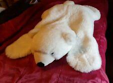 Vintage Faux Polar Bear Rug Soft Kid's Pets Dorm Cute Boho Neat Alaska Decor