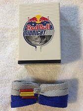 Red Bull Shoe Laces Mid Night Run one grey red tip  one blue yellow tip 66/inch