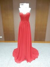 new lace draping chiffon evening dress with gathered waist detachable straps au8