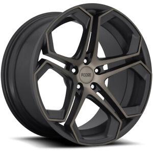 "4-Foose F168 Impala 20x9 5x108 +38mm Black/Tint Wheels Rims 20"" Inch"
