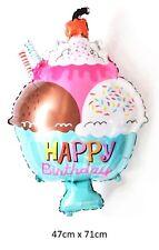 "28"" Ice cream sundae foil balloon 47cm x 71cm 18.5 x 28 inch dessert food sweet"