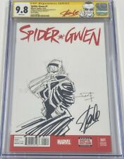 Spider Gwen #1 Spider-verse Signed Stan Lee Sketched Frank Miller CGC 9.8 SS