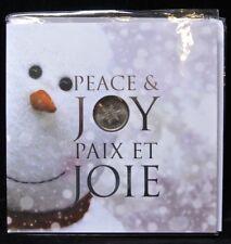 CANADA 2011  - PEACE & JOY 7-Coin Set w/ 25¢ SNOWFLAKE COIN & Envelope Sealed