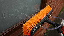 35cm Water Fed Pole Window Cleaning Brush Dual Trim Flocked with 2 x Fan Jets