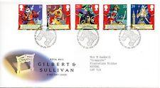 1992 Sg 1624/1628 Gilbert & Sullivan First Day Cover