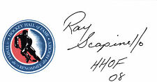 Ray Scapinello HOF 2008 Referee NHL signed 3x5 Hall of Fame autographed