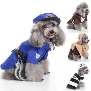 Pet Dog Cat Halloween Cosplay Costumes Outfit Funny Christmas Clothes Suit UK