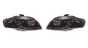 Audi A4 B7 05-09 Black Projector Headlights LED Bar & DRL indicators - 1 Pair