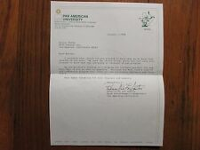 BECKY DE LOS SANTOS  Signed 1988 Personal Letter  Pan American Basketball Coach