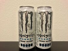 Brand New: Monster Energy Drink Zero Ultra Mexico Cans 473ml 1 Full Can