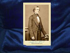 JEFFERSON DAVIS Confederate President Cabinet Card Photograph Civil War Vintage