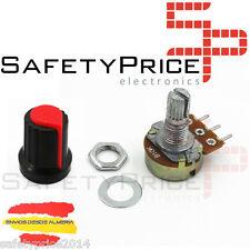 Embellecedor boton rojo + Potenciometro B100K lineal 100k - Arduino knob 16mm