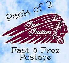 Indian Motorcycle Sticker Classic Retro Decals Vintage Classic Motorbike Qty 2