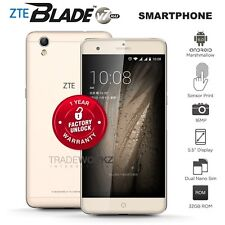 """Unlocked ZTE Blade V7 Max Gold 5.5"""" IPS Octa Core 4G LTE Android Mobile Phone"""