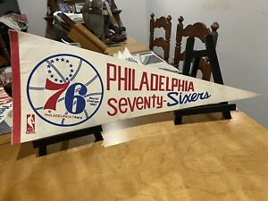 1970 Full size Philly 76ers basketball full size pennant