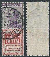 1924-25 REGNO USATO PUBBLICITARIO TANTAL 50 CENT - ED921