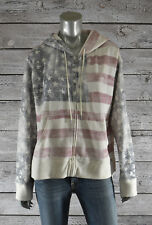Women's Polo Ralph Lauren Vintage Faded USA Flag Hoodie Jacket XL
