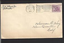 DERMOTT, ARKANSAS 1934 COVER FLAG MACHINE CL, CHICOT 1877/OP.