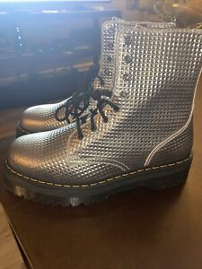 Dr. Martens 1460 Pascal Silver Studded Leather Casual Lifestyle Size 13