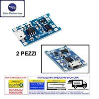 2PZ MODULO TP4056 SCHEDA CARICABATTERIA 5 V LITIO RICARICA PROTEZIONE MICRO USB