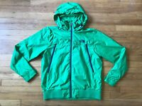 The North Face Men's Size Large Green Navy Blue Hooded Lightweight Fall Jacket