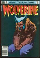 WOLVERINE 3 LIMITED SERIES NEWSSTAND NOV 1982 FINE MARVEL COMICS ITEM: 20799