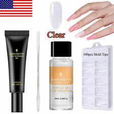 20ml Quick Poly Building Gel Slip Solution Mold Tips Nail Art Brush Stick Tools