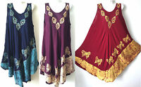 women long maxi summer beach hawaiian Boho evening party sundress dress PLUS #24