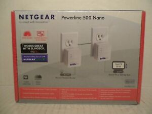 NetGear Powerline 500 NANO Works Great with SlingBox BRAND NEW!
