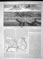 Original Old Antique Print 1893 Charles Sunderland Wormleighton Plan Hampto 19th