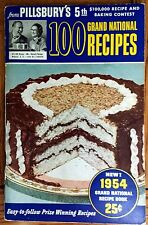 "PILLSBURY""S 5TH 100 GRAND NATIONAL 1954 Grand National Recipes Cookbook GREAT!"