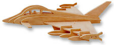 "3-D Wooden Puzzle - Plane Model Euro Fighter Typhoon - Gift Item ""Brand New"""