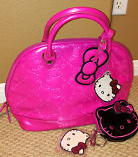 loungefly hello kitty Sanrio embossed bag Pink + die cut coin pouch