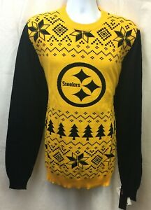 2018 PITTSBURGH STEELERS 2-TONE UGLY COTTON SWEATER M L XL 2XL FREE SHIPPING