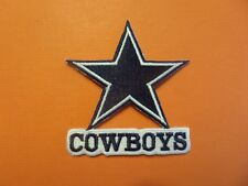 DALLAS COWBOYS SILVER & BLUE EMBROIDERED IRON ON PATCHES  2-3/4 X 3