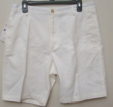 Chaps by Ralph Lauren Rock Salt Beige Flat Front Shorts Size 34