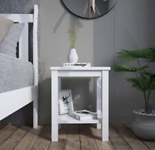 White Bedside Table Cabinet Lamp Small Side End Table Nightstand Telephone Table
