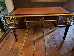 french empire style desk Gold bronze griffin mounts leather top custom mahogany