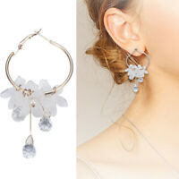 Drop Earrings Crystal Tassel Dangle Acrylic Flower Women Jewelry Accessory ~69