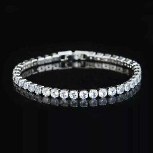 Iced Out Tennisarmband Tennis Bracelet Herren/Damen Silber Armband 19cm NEU