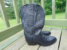 Ben Miller Black Bull Hyde Leather Stitched Men's Size 9 D Cowboy Boots B M