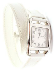 AUTHENTIC HERMES CAPE CODE WHITE LEATHER WRAP LADIES WATCH, 2005, EXCELLENT