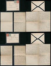 FRANCE 1919 LETTERS MOURNING STATIONERY ST VIVIEN to BENEFACTOR LIPPELS PHILLIPS