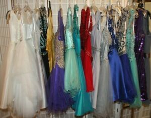 NWD Seamstress lot of Short formal dresses, two Flower girl dresses, ALL NEW