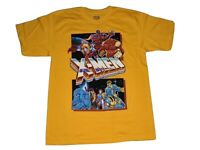 NWOT Marvel Comics X-Men 90s Video Game Retro Yellow t-shirt Men's Size L