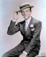 """FRED ASTAIRE HOLLYWOOD LEGEND ACTOR SINGER DANCER 8x10"""" HAND COLOR TINTED PHOTO"""