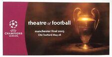 2003 CHAMPIONS LEAGUE FINALE cartolina AC MILAN V JUVENTUS @ Manchester United