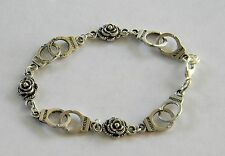 """BDSM KINK Submissive  Handcuff & Petite Roses Bracelet 8"""" Ships from USA"""