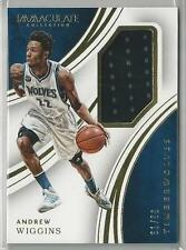 2015-16 PANINI IMMACULATE ANDREW WIGGINS JERSEY 61/99!!