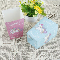 10pcs Unicorn Popcorn Boxes Happy Birthday Party Candy Box for kids Gifts TR
